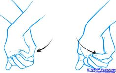 anime hands | How to Draw Holding Hands, Step by Step, Hands, People, FREE Online ... Drawings Hands Hold, Hands Lessons, Drawings People, Drawings Hold, Drawings Help, Drawings Reference, Hold Hands Drawings, Animal Hands, Art Hands - dragoart.com