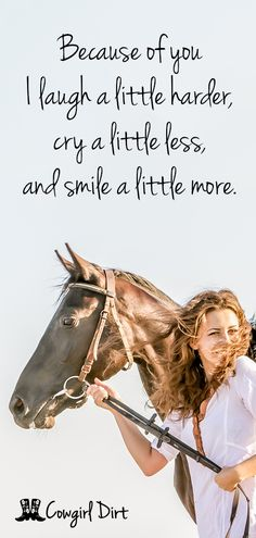So true! Being with my horses is the best therapy!