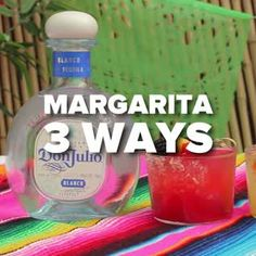 3 Margarita Party Recipes - Host an epic margarita party with these 3 delicious twists on the classic cocktail. Watermelon Basil Margarita, Jalapeño Pineapple Margarita, Blackberry Peach Margarita. #margarita #margaritarecipe #nationalmargaritaday