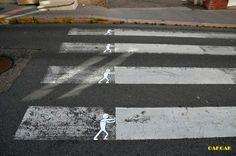 Faixa de pedestres no lugar certo!