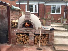 An English Homestead: My Brother's Pizza Oven
