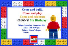 Full summary of a personal lego party theme. Homemaking Fun: A Lego Themed Birthday Party