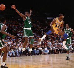 Magic Johnson  Lakers vs. Celtics  |  Oct. 22, 1991  |  Photo By John W. McDonough/SI