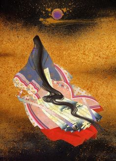 Lady Murasaki Shikibu. She was a lady-in-writing for empress Shoshi. She's one of the greatest writers of Heian period and an author of 'The Tale of Genji'.