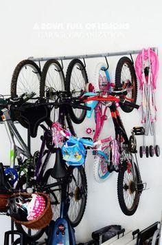 garage ideas - bike rack/storage #HomeManagement