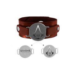 Assassins Creed III - Wristband Reversible Logo - http://www.cheaptohome.co.uk/assassins-creed-iii-wristband-reversible-logo/
