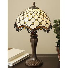 "21"" tall Tiffany-style Jewel Roman Table Lamp 