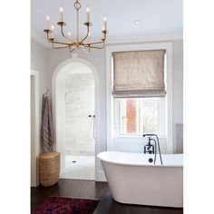 """""""Loving this recent bathroom pin -- every detail.  Also head to Beckiowens.com today for a dining chair round up!  Have a great night.  via @lonnymag"""""""