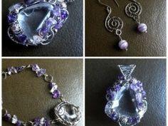Ametystová souprava šperků.