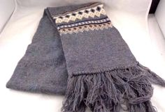 11.60$  Buy now - http://vires.justgood.pw/vig/item.php?t=pyn4hnn23926 - Women Scarf 100% Pure Wool Norsewear New Zealand 6 foot Gray Men 11.60$