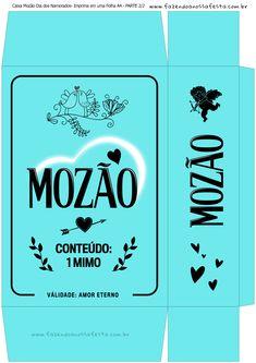 Caixa Mozão Presente Dia dos Namorados - Parte 1 - Azul E Craft, Envelope, Paper Crafts, Clip Art, Valentines, Printables, Scrapbook, Creative, Kids