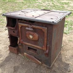 Old rusty stove