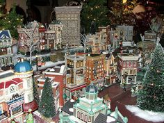 Department 56 - Part of our 70' x 10' Display by Department 56, via Flickr