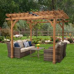 Backyard Discovery 10' x 10' Abilene Pergola - Walmart.com