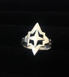 Anel Estrela Guia - Prata 950 #joalheriaartesanal #anel #ring #handmade #jewerly #joiaautoral