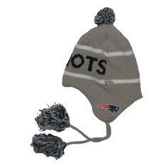 Official New England Patriots ProShop - New Era Gray Team Tassle Knit d36254091