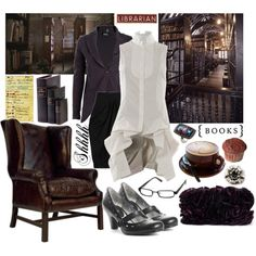 I am a Librarian! by brittneybombshell on Polyvore