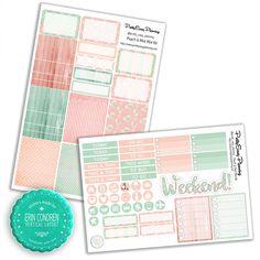 Peach & Mint Planner Mini Kit for Erin Condren vertical von PrettyEasyPlanning auf Etsy