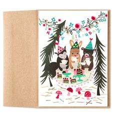 Woodland Birthday Party Card
