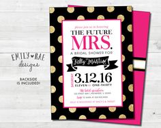 Pink and Polka Dots Bridal Shower Invite by EmilyRaeDesignStudio
