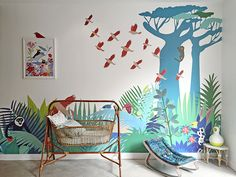 Room with LITTLE CABARI products - in love with the colors, the shapes and the patterns.