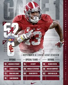 Alabama 52 - USC 6. Game 1 is in the books. #RollTide 🐘