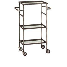 // Arteriors Home iron and mirror bar cart