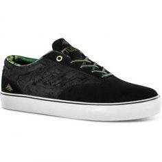 d85c31fefa49ac Emerica Provost Shoes Black Green Black Shoes