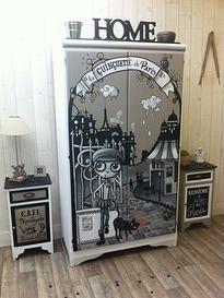 meuble D&CO, meuble peint