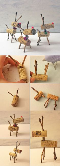 I've got enough corks laying around. Easy Christmas Decor Ideas: Reindeer Corks