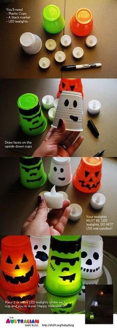 DIY Halloween Lights These are cute! I have a few of those tea lights