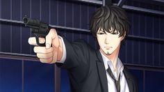 My lazy detective boyfriend with his gun