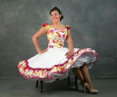 I love the petticoat showing