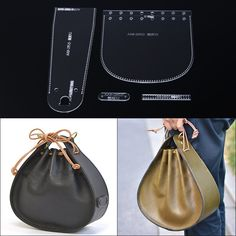 - Online Shop 1 set Acrylic Template Stencil DIY Leather …- Online Shop 1 takım Akrilik Şablon Ş - Leather Diy Crafts, Leather Bags Handmade, Leather Projects, Handmade Bags, Handmade Crafts, Leather Craft, Bag Sewing Pattern, Leather Bag Pattern, Sewing Leather