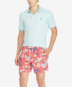 """Polo Ralph Lauren Men's 5-3/4"""" Traveler Swim Trunks - Resort Tropical XXL"""