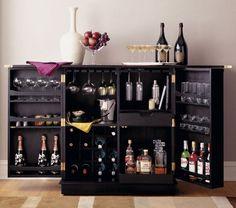 Black Steamer Bar Cabinet ~ Home Bar ~ Summer Sale