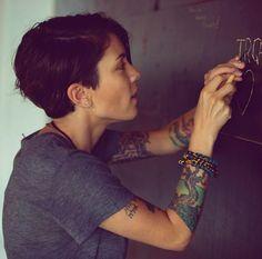 I like Tegan's tree tattoo