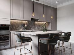 50 Ideas For Kitchen Furniture Design Modern Cuisine Kitchen Room Design, Home Decor Kitchen, Kitchen Living, Interior Design Kitchen, Kitchen Furniture, New Kitchen, Kitchen Grey, Furniture Stores, Kitchen Ideas