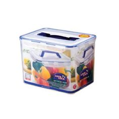 Lock&Lock 40-Cup 325-Fluid Ounce Rectangular Container with Handle and Tray, Tall