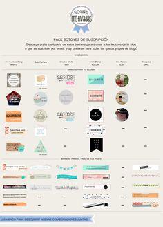 FREEBIE | PACK DE BOTONES DE SUSCRIPCIÓN Web Design, Community Manager, Free Printables, Diy And Crafts, Social Media, Etsy Shop, Digital, Blogging, Tips