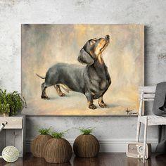 Custom pet portrait dog oil painting dachshund commission https://bestproductsfor.com
