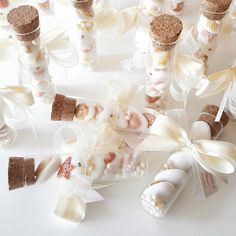Provette matrimonio - bomboniere vetro - segnaposto matrimonio - bomboniere comunione -bomboniere cresima - confettata - tema mare Wedding Candy, Wedding Favors, Wedding Decorations, Baby Event, Baby Girl Christening, Wedding Giveaways, Wedding Gifts For Guests, Kid Party Favors, Holidays And Events