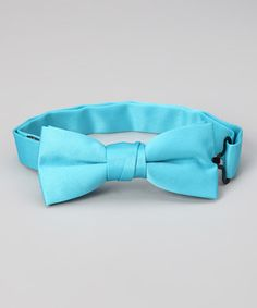 For Max! Loving this Turquoise Ribbon Bow Tie on #zulily! #zulilyfinds