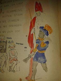 Afbeelding oud Sinterklaas boek 1945