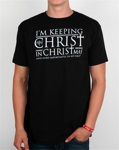 Keeping Christ in Christmas! Great company, great shirt.