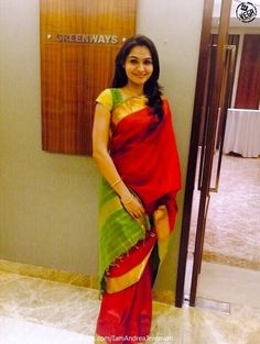 Andrea Jeremiah in Red Saree
