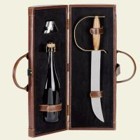 Sabre for Campagne with brown leatherette case for 1 bottle