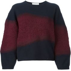 3.1 Phillip Lim 'Felt Tape' jumper (44.845 RUB) ❤ liked on Polyvore featuring tops, sweaters, blue, three quarter sleeve tops, blue purple sweaters, purple top, loose sweater and 3.1 phillip lim sweaters