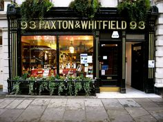 "Paxton & Whitfield London's oldest cheese shop. Hah! Wonder if the ""Whitfield"" half is related to anyone in MY family?"