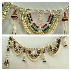 Kalash Decoration, Diwali Decoration Items, Handmade Decorations, Hall Decorations, Rakhi Making, Diwali Craft, Beaded Bracelets Tutorial, Thread Jewellery, Indian Home Decor